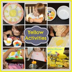 Growing Up Our Style: Tot School: Yellow Activities