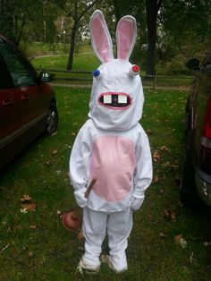 marc in his rabbids costume - Raving Rabbids Halloween Costume