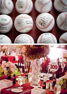 Baseball Themed Weddings! Love the baseball signing!