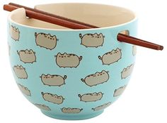 Buy Pusheen Rice Bowl With Chopsticks from the Official Site, Limited Availability. Dishwasher and microwave safe. Fans of Pusheen can Chat Pusheen, Pusheen Stuff, Pusheen Gifts, Kawaii Room, Cute Kitchen, Rice Bowls, Snack Bowls, Cute Mugs, Chopsticks