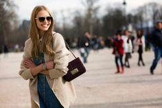 Model Street Style: Sasha Luss Wears a Denim Dress