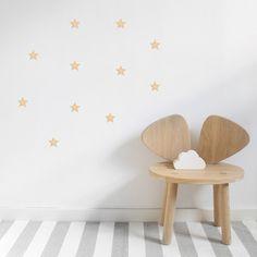 Trend Stickstay kleiner goldener Wandsticker in Sternen Form