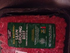 Lean ground beef (1.5 to 2 lbs).