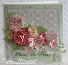 Such a beautiful card and so much work!  #paper #flowers