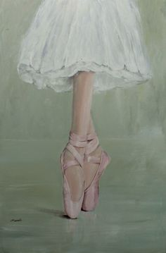 """Original Painting - """"Pointe Shoes""""                           .....by Gail McCormack"""