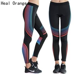 HEAL ORANGE Sex Elastic Waist Stretched Sports Pants Gym Clothes Spandex Running Tights Women Sports Leggings Fitness Yoga Pants ** AliExpress Affiliate's buyable pin. Click the VISIT button to enter www.aliexpress.com #Yogawears