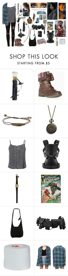 """""""Aubrey Leaving The Prison With Judith (The Walking Dead)"""" by smb9807 ❤ liked on Polyvore featuring Younique, Holster, Hot Topic, BabyBjörn, Marvel Comics, Disney, Zippo, zombies, apocalypse and thewalkingdead"""
