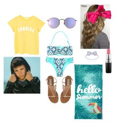 Daniel Skye at the beach by ganderson1127 on Polyvore featuring polyvore fashion style MANGO Ray-Ban MAC Cosmetics Outdoor Oasis clothing