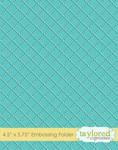 *****  Embossing Folder - Dotted Lattice by Taylored Expressions
