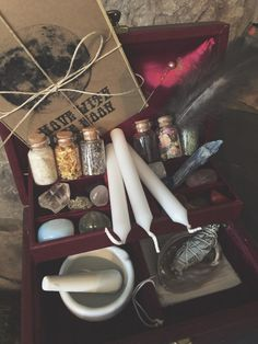 Witch's Charm Box Maroon by MoveWithTheMoon on Etsy