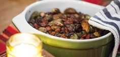 Loaded with B vitamins, minerals and fiber, #Brussels get a decadent makeover with the addition of crispy #pancetta. #brusselssprouts #brusselsprouts #eatclean #eatingclean #cleaneating #toscareno #side #sidedish #eatcleandiet