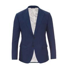 Dolce & Gabbana Peak-lapel linen-blend jacket ($1,138) ❤ liked on Polyvore featuring men's fashion, men's clothing, men's outerwear, men's jackets, men, jackets, blazers, man, men wear and blue