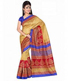 Multicolor printed bhagalpuri saree with blouse piece@ Rs.494.00