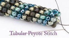 Peyote Stitch tutorial for beginners - Beadweaving with Svetlana Kunina - YouTube