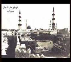 المسجد النبوي و المنطقة المحيطة قبل 100 عام و اكثر
