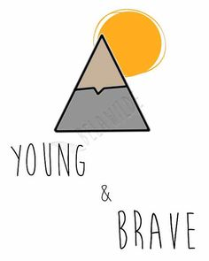 Young & brave tribal download print perfect for the little boy nursery room! I love it!