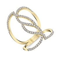 Unique Yellow Gold Fashion Ring