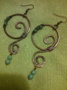 Copper Boho Hoops  ~Gaea's Gifts by Bryn~