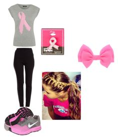 """walking for breast cancer"" by mikyawilkins on Polyvore"