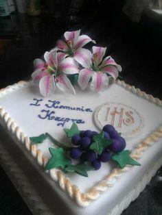 First Holy Communion Cake Handmade sugar flowers