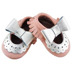 Genuine Peach Mary Jane Baby/ Toddler Moccasin - .5 Year Shoes