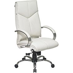 Office Star Deluxe High-Back Executive Leather Chair