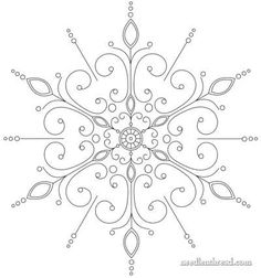 (evolution of a) Snowflake Hand Embroidery Pattern