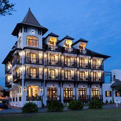 The Pearl Hotel, Rosemary Beach, Florida. Check out Pish Posh Patchouli's Spa, Bamboo Bicycle Company, and The Hidden Lantern Antique Books while you're there.