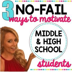 Discover my three NO-FAIL strategies for motivating your middle and high school students. High School Science Projects, High School Science Experiments, High School Activities, Science Chemistry, Stem Science, School Resources, Science Activities, Teacher Resources, Teaching Ideas