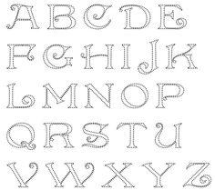 Alfabet Anchor String Art, String Art Letters, Nail String Art, Small Letters, Rhinestone Art, Abc Alphabet, Hand Lettering Fonts, Dot Art Painting, Doodles