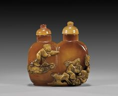 CAMEO AGATE DOUBLE SNUFF BOTTLE