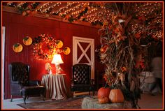 More Fall/Barn Party...I dream of the inside of our barn looking like this someday!  <3