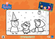 Have some Halloween fun with this Peppa Pig coloring sheet!