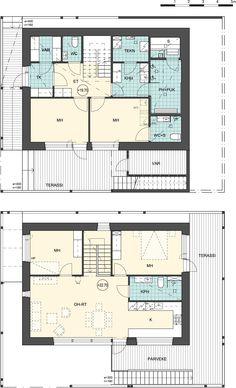 Floor plan, house 1, © Kimmo Lylykangas Architects