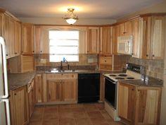 Best Kitchen With Hickory Cabinets And Travertine Backsplash 640 x 480