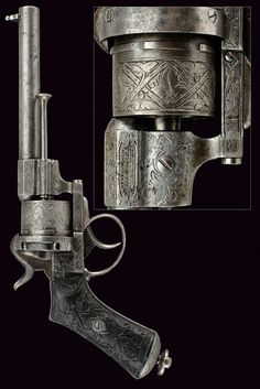 A Lefaucheux pin-fire revolver, provenance: Belgium dating: third quarter of the 19th Century.