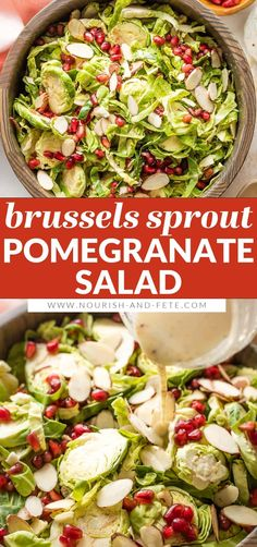Great Salad Recipes, Soup Recipes, Chicken Recipes, Healthy Salads, Healthy Recipes, Pomegranate Salad, Brussels Sprout, Dinner Salads, Side Salad