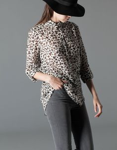 Miércoles de moda: camisa animal print. Stradivarius