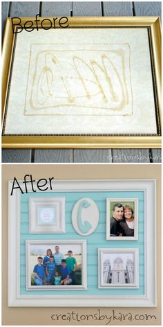 DIY Beadboard Frame Collage Tutorial