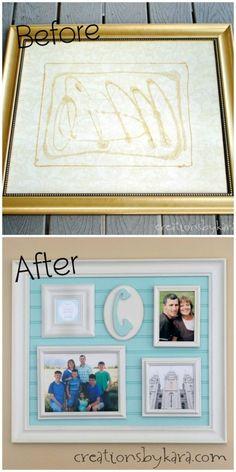DIY Beadboard Frame Collage Tutorial