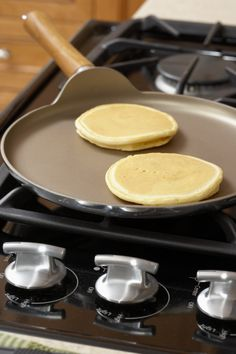 My husband's weekend favorite,    Alton Brown's Perfect Pancakes