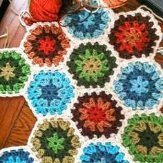 Crochet Granny Hexagon - Free Pattern