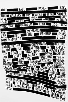 ADC Paper Expo Invite - Max Kuwertz – Design/Art Direction