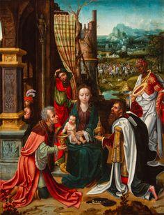 BRAFA 2015 highlight of Floris Van Wanroij Fine Art: The Adoration of the Magi by Adriaen van Overbeke (Active in Antwerp between circa1508-1529). Painted circa 1510/15.