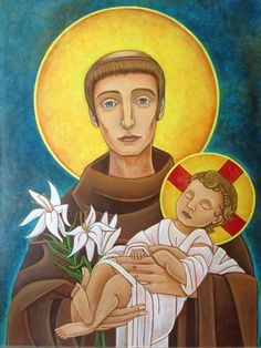 Saint Anthony of Padua  https://www.facebook.com/norman.faucheux.art/