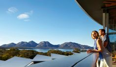On a coastal peninsula of the island of Tasmania, a contemporary resort promises luxury and environmental intimacy for every guest. The Saffire Freycinet Australia Capital, Australia Travel, Visit Australia, Australia Holidays, Romantic Escapes, Sustainable Tourism, Great Hotel, Holiday Destinations, Travel Destinations