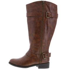 Women's Zane Riding Boot with an extended calf by Brash @ Payless For those of us who don't have pencil legs!