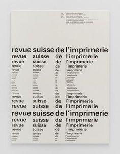 TM Typographische Monatsblätter, issue 12, 1961. Cover designer: Emil Ruder