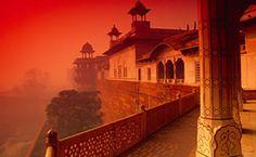 arquitetura, Forte de Agra, construção, casa, nevoeiro, sol papéis de parede