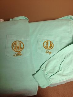 Comfort colors sorority big little shirt